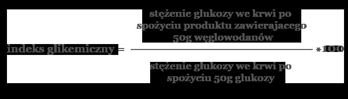 wzór indeks glikemiczny